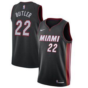 Men's Miami Heat Jimmy Butler Nike Black Jersey 22
